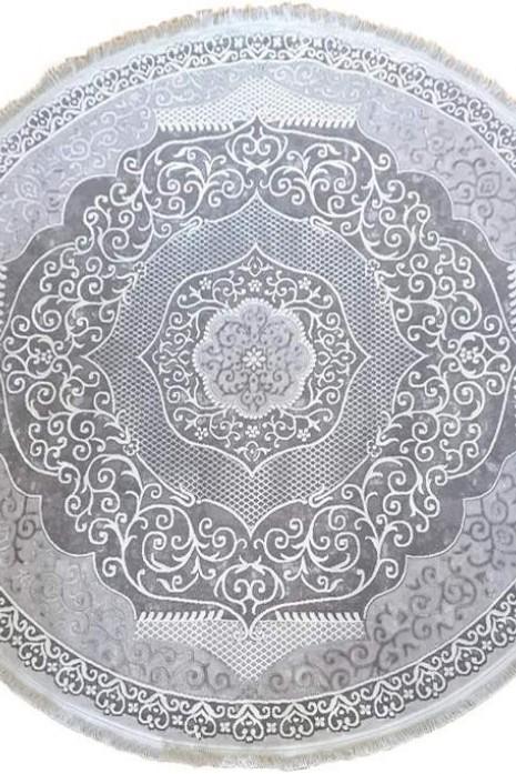 Ковер Tempo  116za c.poly.d.grey-cream круг