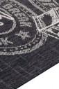 Прорезиненный коврик Kitchen 190580 черно-серый