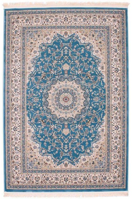 Esfehan 4878a blue-ivory