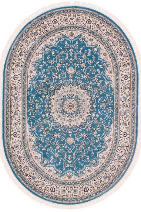 Esfehan 4878a blue-ivory овал