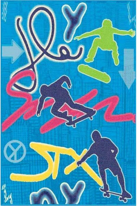 Ковер Kids 3775-44966 со скейтбордистами