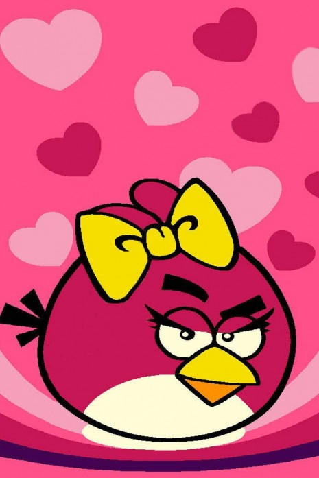 Kids С111А pink Angry Birds