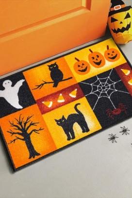 Коврик Taba 270 Хеллоуин Черный Кот, Привидение, Сова