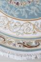 Zarina 2657a blue-cream круг