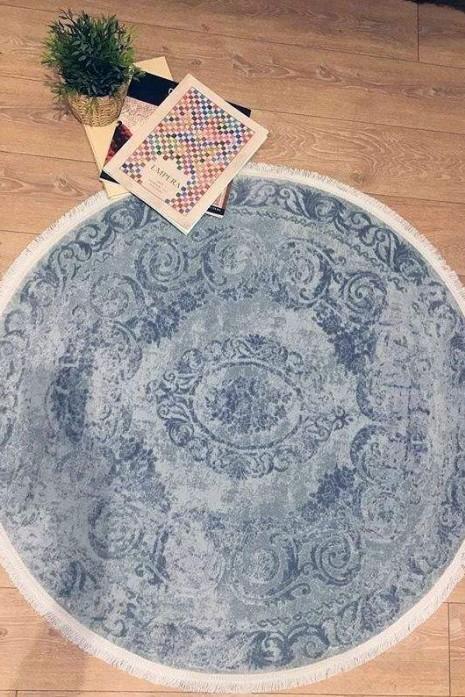 Ковер Taboo g886b hb.blue-blue круг