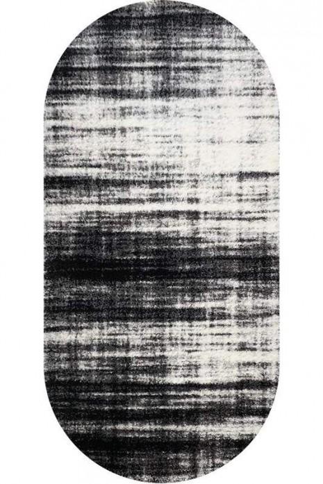 Fiber Shaggy 1295А Black-D.Grey овал