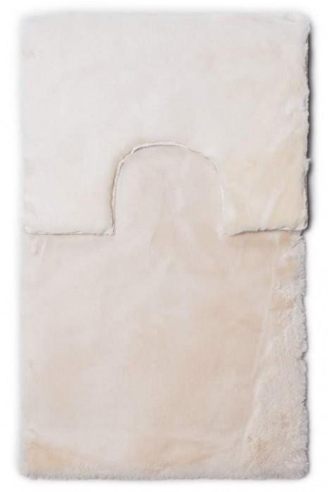 Комплект ковриков Rabbit fur cream tpr