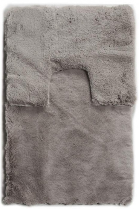 Комплект ковриков Rabbit fur light grey tpr