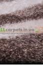 Ковер Shaggy Lama 1053-33028  белый с коричневой волной